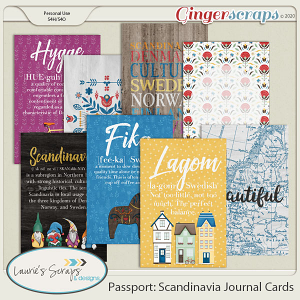 Passport: Scandinavia Journal Cards