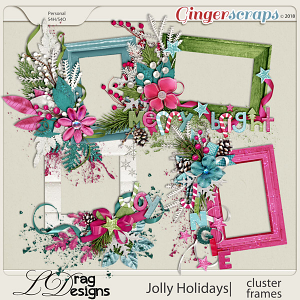 Jolly Holidays: Cluster Frames by LDragDesigns