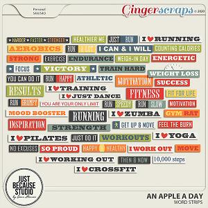 An Apple A Day Word Strips by JB Studio