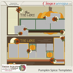Pumpkin Spice Templates by Trixie Scraps Designs