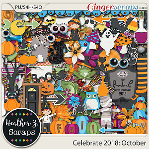 Celebrate 2018: October KIT by Heather Z Scraps