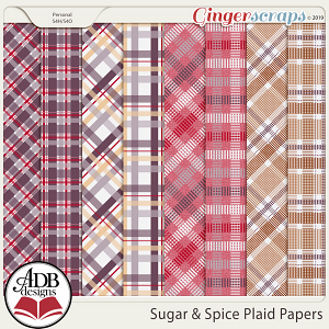 Sugar & Spice Plaid Papers by ADB Designs