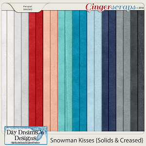 Snowman Kisses {Solid Papers} by Day Dreams 'n Designs