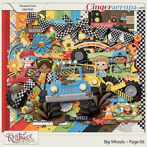 Big Wheels Page Kit