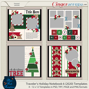 Holiday Travelers Notebook 6 Templates by Miss Fish