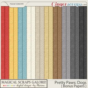 Pretty Paws: Dogs (bonus papers)