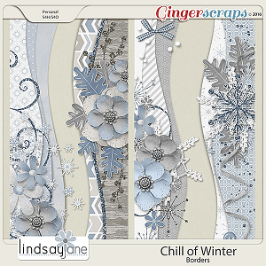 Chill of Winter Borders by Lindsay Jane