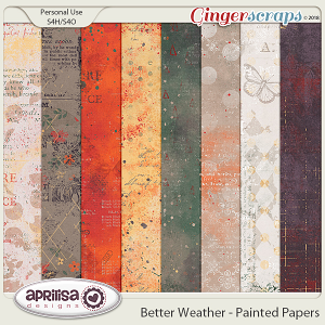 Better Weather - Painted Papers by Aprilisa Designs