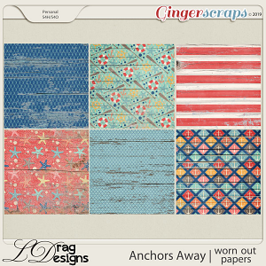 Anchors Away Worn Out Papers by LDragDesigns