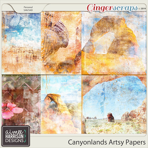 Canyonlands Artsy Papers by Aimee Harrison