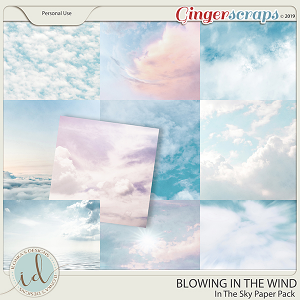 Blowing In The Wind In The Sky Paper Pack by Ilonka's Designs