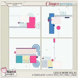 Less is More VOL.3 - Templates - by Neia Scraps