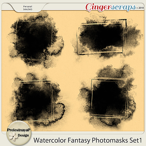 Watercolor fantasy Photomasks Set1