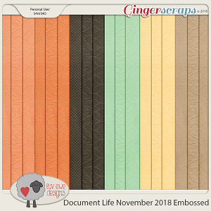 Document Life November 2018 Embossed Papers by Luv Ewe Designs