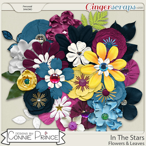 In The Stars - Flowers & Leaves by Connie Prince