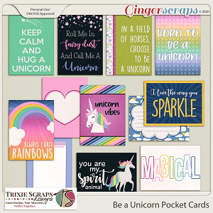 Be a Unicorn Pocket Cards by Trixie Scraps Designs