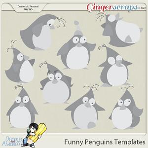 Doodles By Americo: Funny Penguins Templates