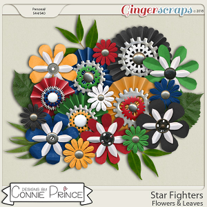 Star Fighters - Flowers & Leaves by Connie Prince