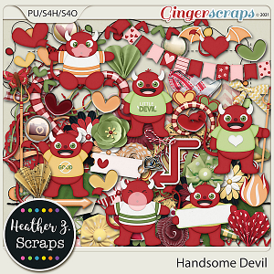 Handsome Devil ELEMENTS by Heather Z Scraps