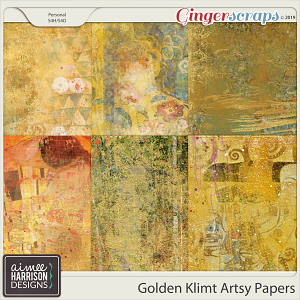 Golden Klimt Artsy Papers by Aimee Harrison