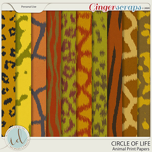 Circle Of Life Animal Print Papers by Ilonka's Designs