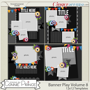 Banner Play Volume 8 - 12x12 Temps (CU Ok) by Connie Prince