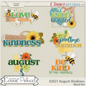 2021 August: Kindness Wordart by North Meets South Studios