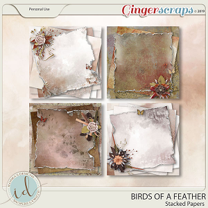 Birds Of A Feather Stacked Papers by Ilonka's Designs