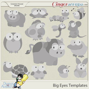 Doodles By Americo: Big Eyes Templates