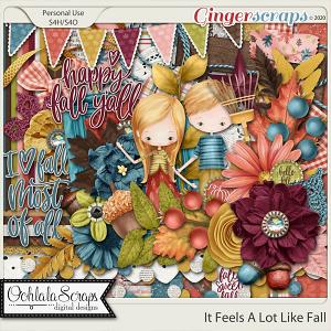 It Look A Lot Like Fall Digital Scrapbook Kit