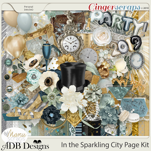 In The Sparkling City Page Kit by ADB Designs