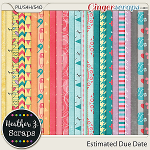 Estimated Due Date PAPERS by Heather Z Scraps