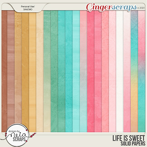Life is Sweet - Solid Papers - by Neia Scraps