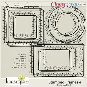 Stamped Frames 4 by Lindsay Jane