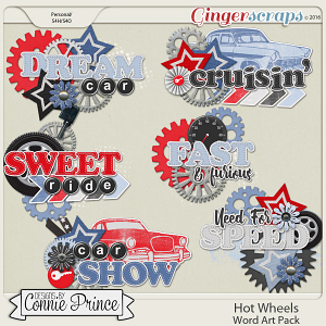 Hot Wheels - Word Art Pack