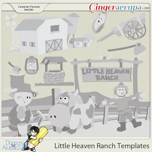 Doodles By Americo: Little Heaven Ranch Templates