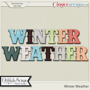 Winter Weather Alphabets