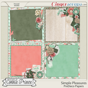 Simple Pleasures - PreDeco Papers