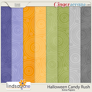 Halloween Candy Rush Extra Papers by Lindsay Jane