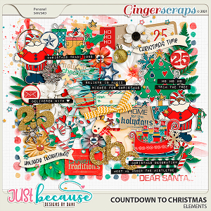 Countdown to Christmas Elements by Just Because Studio