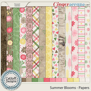 Summer Blooms - Papers