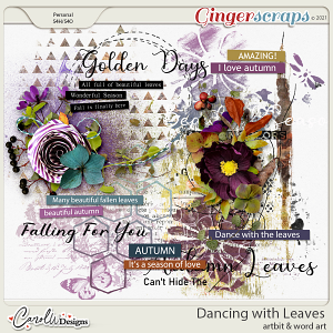 Dancing with leaves-Artbits & word art