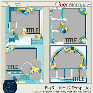Big & Little 12 Templates by Miss Fish
