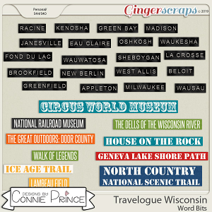 Travelogue Wisconsin - Word Bits by Connie Prince
