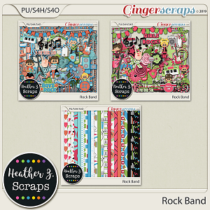 Rock Band KIT by Heather Z Scraps
