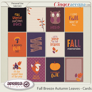 Fall Breeze Autumn Leaves - Cards by Aprilisa Designs