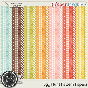 Egg Hunt Pattern Papers