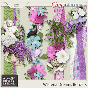 Wisteria Dreams Borders by Aimee Harrison