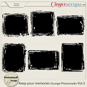 Keep your memories Grunge Photomasks Vol.3