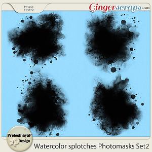 Watercolor splotches Photomasks Set2